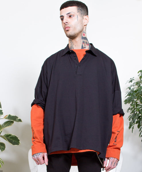 SLAM PIT POLO-BLACK