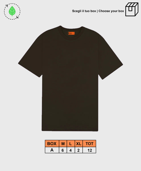 BASIC TEE BROWN [ BOX B ]