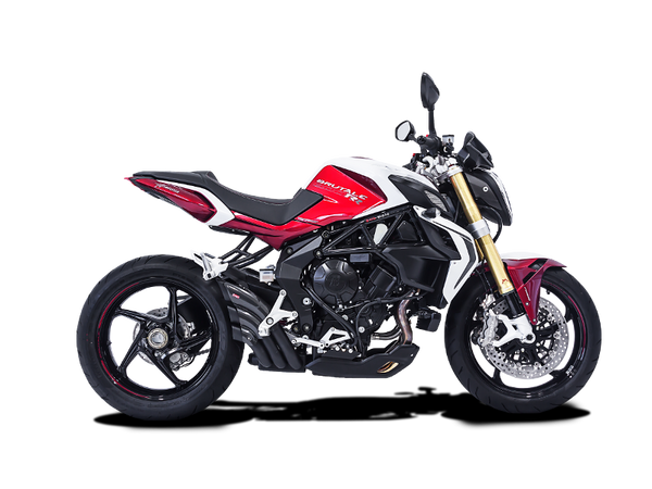 HP CORSE HYDRO-TRE SATIN SLIP-ON EXHAUST FOR MV AGUSTA BRUTALE 800 DRAGSTER 800 RIVALE TURISMO STRADALE