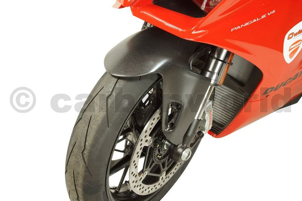 MATTE CARBON FRONT FENDER FOR DUCATI PANIGALE V4 BY CARBONWORLD