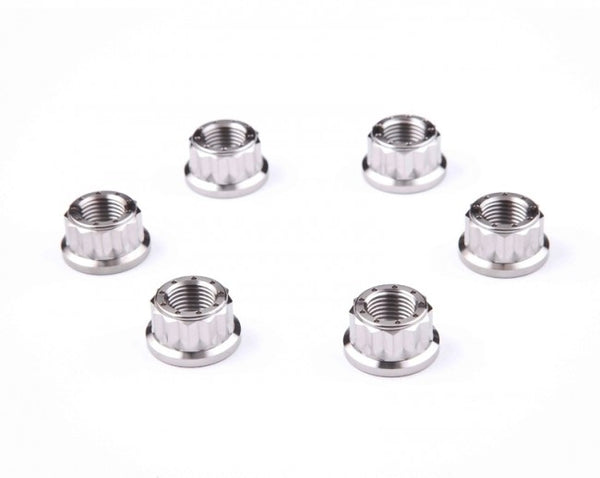 MOTOCORSE DBT TITANIUM REAR SPROCKET  NUTS KIT (N. 6)