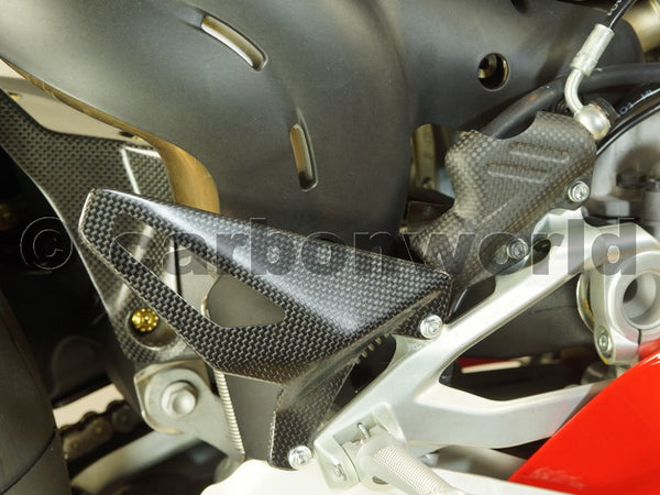 MATTE CARBON HEELGUARD HEELGUARDS FOR DUCATI PANIGALE V4 BY CARBONWORLD