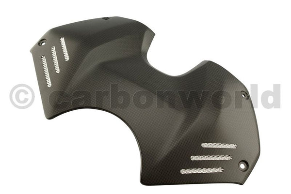 MATTE CARBON TANK COVER FOR DUCATI PANIGALE V4 BY CARBONWORLD
