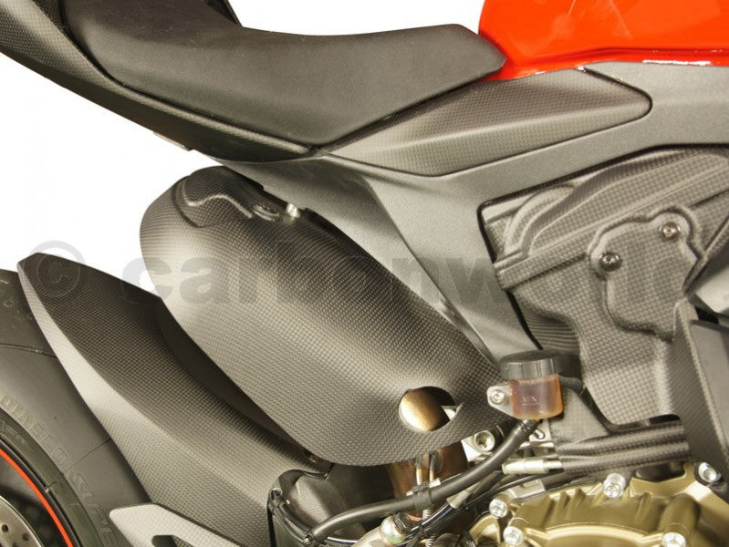 Matte Carbon Frame Cover Kit For Ducati Panigale 959 1299 S By