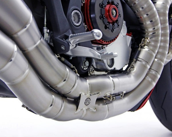 "MOTOCORSE ""Due Gemelli Dvxi"" Lobster tail titanium exhaust system for M1200"