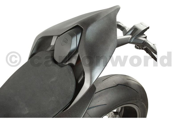 MATTE CARBON SEAT PANELS FOR DUCATI PANIGALE V4 BY CARBONWORLD