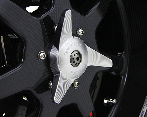 MOTOCORSE SPINNER DESIGN CNC WHEEL NUT CAP WITH REAR AXLE SLIDER