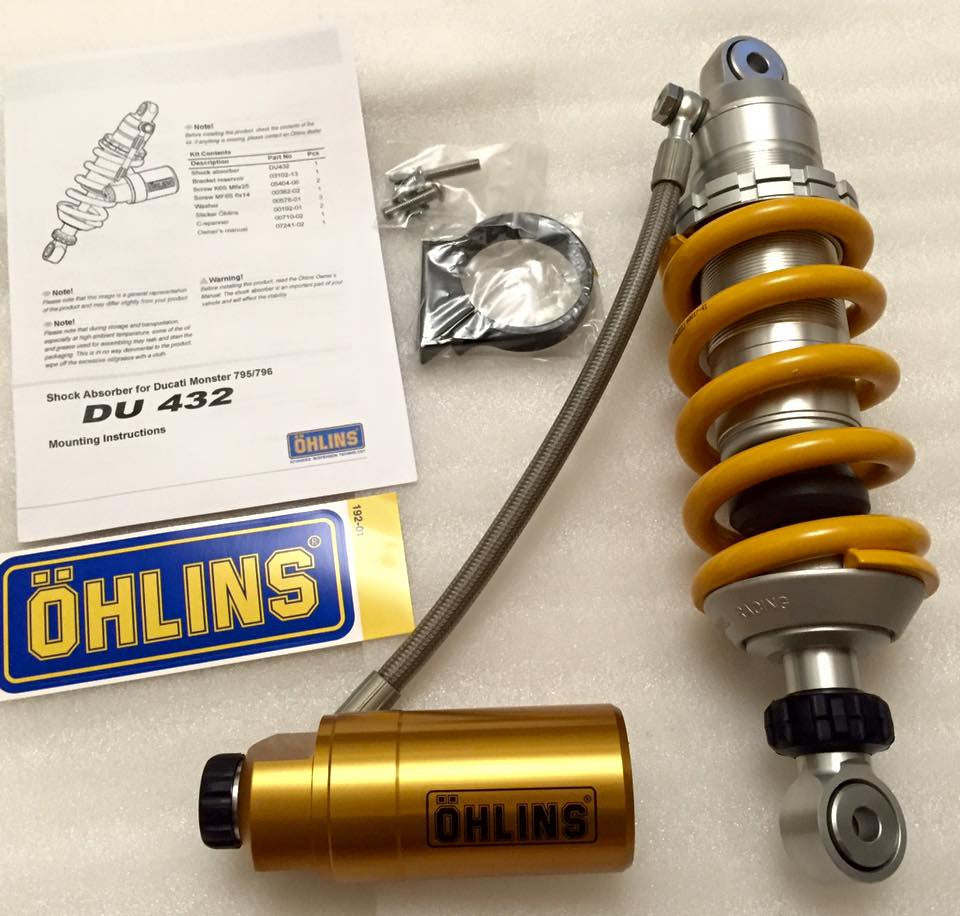 OHLINS REAR SHOCK DUCATI MONSTER 796 / DU432 - DennisPowerSport - 1