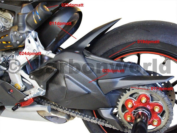 MATTE CARBON HEELGUARDS CORSE KIT FOR DUCATI PANIGALE 899 1199 959 1299 S BY CARBONWORLD