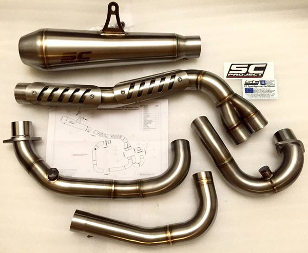 SC PROJECT DUCATI SCRAMBLER FULL SYSTEM 2-1 with CONIC SILENCER - HIGH POSITION / D16-CH21A - DennisPowerSport - 4