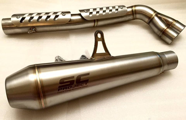 SC PROJECT DUCATI SCRAMBLER FULL SYSTEM 2-1 with CONIC SILENCER - HIGH POSITION / D16-CH21A - DennisPowerSport - 5