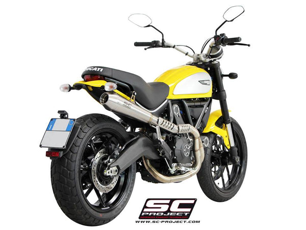 SC PROJECT DUCATI SCRAMBLER FULL SYSTEM 2-1 with CONIC SILENCER - HIGH POSITION / D16-CH21A - DennisPowerSport - 2