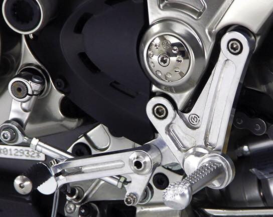 MOTO CORSE DUCATI DIAVEL ADJUSTABLE REARSETS KIT WITH TITANIUM SCREWS - DennisPowerSport - 9