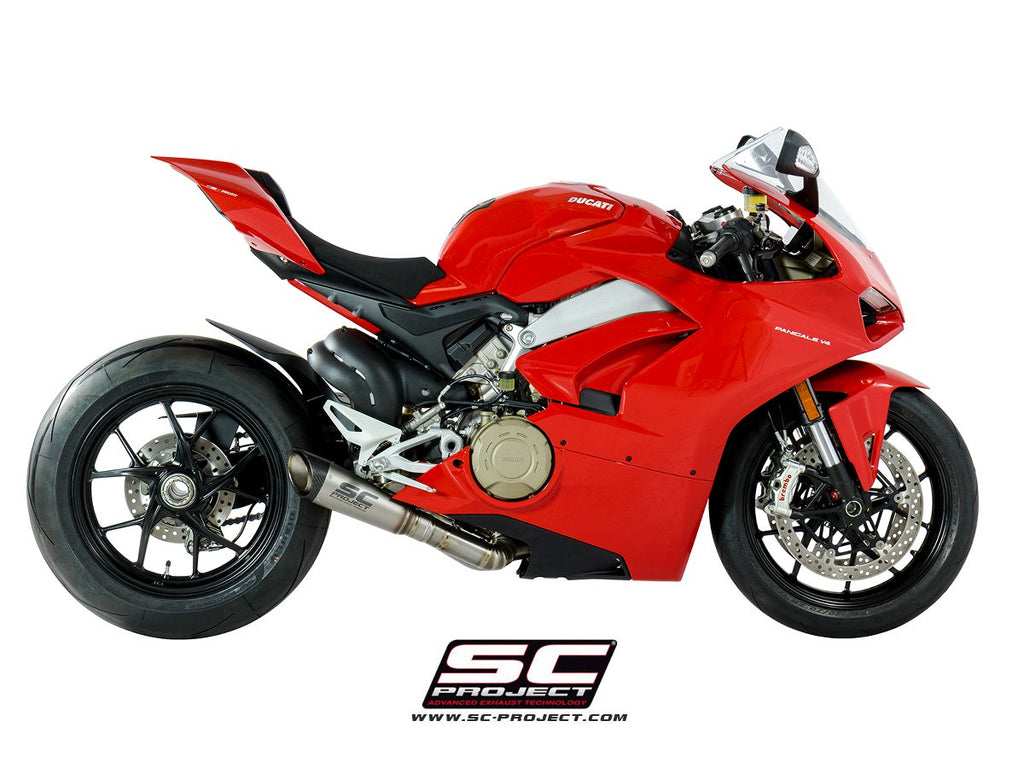 SC PROJECT DUCATI PANIGALE V4 2-1 EXHAUST SYSTEM IN FULL TITANIUM AND S1 MUFFLER / D26-LT41T