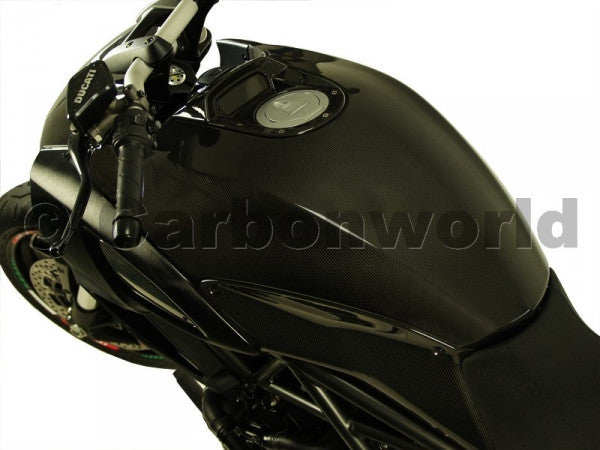 CARBON FUEL TANK COVER FOR DUCATI DIAVEL BY CARBONWORLD - DennisPowerSport - 3
