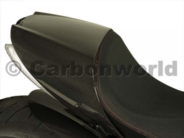 CARBON PASSENGER SEAT COVER FOR DUCATI DIAVEL BY CARBONWORLD - DennisPowerSport - 2