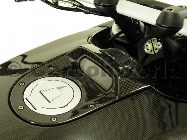 CARBON UPPER TANK COVER FOR DUCATI DIAVEL BY CARBONWORLD - DennisPowerSport - 2