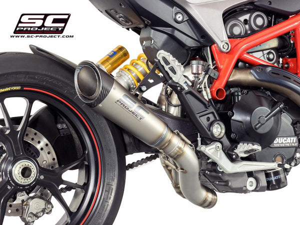 SC PROJECT HYPERMOTARD HYPERSTRADA 939 / SP S1 TITANIUM EXHAUST  WITH 2-1 LINK PIPE / D10-DL41T