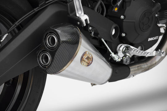 ZARD EXHAUST SILENCER Ducati MONSTER 797 2017/19 LOW MOUNTED VERSION ZD787SSR