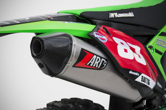 ZARD EXHAUST 2>1 FULL KIT Kawasaki KX KE 450 F STEEL VERSION ZKAW177SKR