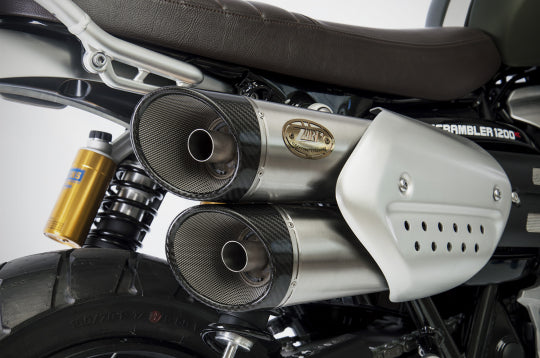 ZARD EXHAUST SILENCERS Triumph SCRAMBLER 1200 M.Y. 2019 SLIP-ON VERSION ZTPH091SSR
