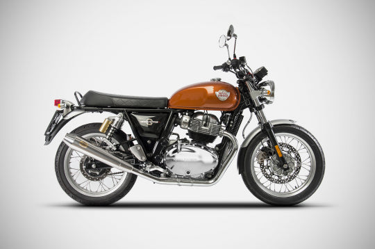 ZARD EXHAUST N. 2 SLIP-ONS ROYAL ENFIELD CONTINENTAL GT / INTERCEPTOR M.Y. 2019 CONICAL VERSION ZRE536SSR
