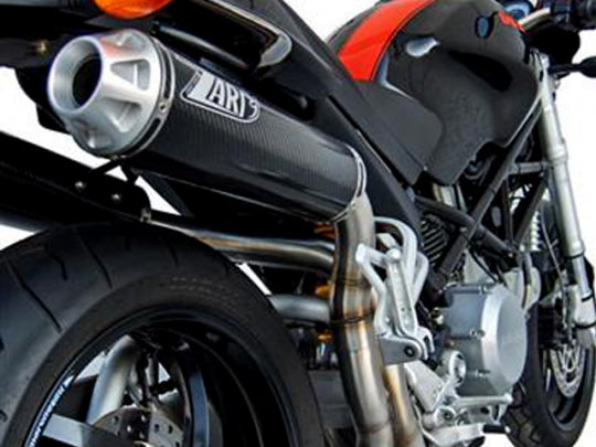 ZARD EXHAUST HEADER KIT + HIGHT MOUNTED SILENCERS Ducati MONSTER S2R 800 MY 06/08 2>2 LH-RH VERSION ZD016SKR