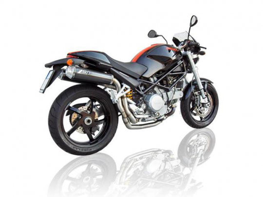 ZARD EXHAUST HIGHT MOUNTED SILENCERS Ducati MONSTER S2R 800 MY 06 LH-RH VERSION ZD024LSR-1