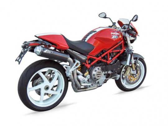 ZARD EXHAUST HEADER KIT + HIGHT MOUNTED SILENCERS Ducati MONSTER S2R 1000 2>2 LH-RH VERSION ZD017SKR