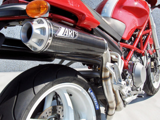 ZARD EXHAUST HIGHT MOUNTED SILENCERS Ducati MONSTER S2R 1000 LH-RH VERSION ZD024LSR-1