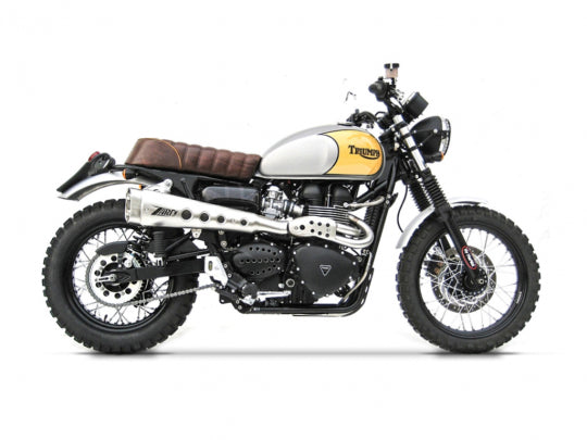 ZARD EXHAUST 2>1 HIGH MOUNTED SHORT FULL KIT Triumph SCRAMBLER < M.Y. 2016 INJECTION ZTPH048SKA-08