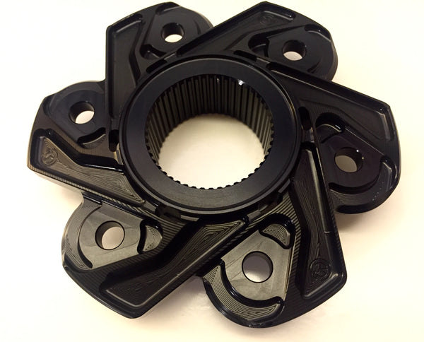 MOTOCORSE BILLET REAR SPROCKET CARRIER FOR DUCATI MODELS WITH LARGE HUB SINGLESIDED SWINGARMS, Silver or Black