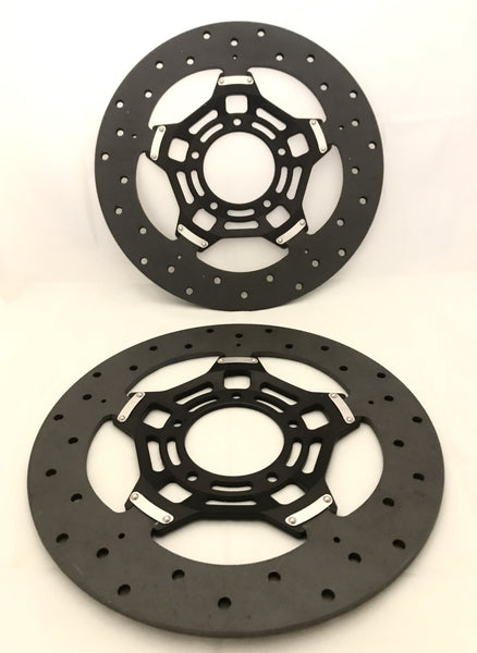 SICOM T-DRIVE CARBON FIBRE + CERAMIC COMPOSITE DISCS SET FOR DUCATI AND MV AGUSTA