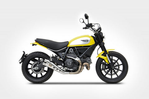 ZARD DUCATI SCRAMBLER LIMITED EDITION LOW MOUNT SLIP-ON EXHAUST / ZD778SSR - DennisPowerSport - 1