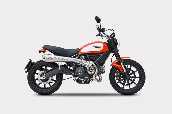 ZARD DUCATI SCRAMBLER LIMITED EDITION HIGH MOUNT FULL SYSTEM EXHAUST / ZD779SKR - DennisPowerSport - 1