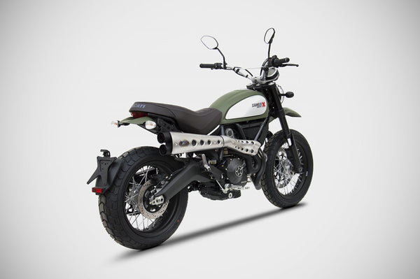 ZARD DUCATI SCRAMBLER LIMITED EDITION HIGH MOUNT FULL SYSTEM EXHAUST / ZD779SKR - DennisPowerSport - 4