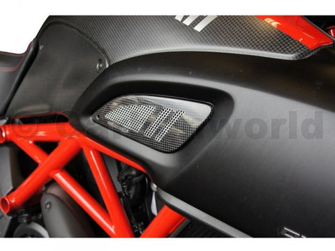 CARBON RAM AIR INTAKE COVER FOR DUCATI DIAVEL BY CARBONWORLD - DennisPowerSport - 1