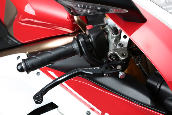 AELLA ALUMINIUM BILLET FOLDING CLUTCH LEVER FOR DUCATI PANIGALE 1199 1299 DIAVEL STREETFIGHTER MONSTER AE-59002