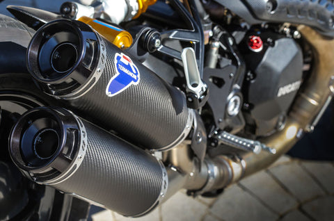 TERMIGNONI DUCATI MONSTER 1200 S SLIP-ON EXHAUST / CARBON FIBRE MUFFLERS