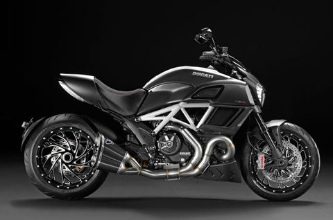 TERMIGNONI DUCATI DIAVEL COMPLETE RACING EXHAUST SYSTEM WITH CARBON SILENCERS