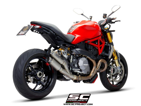 SC PROJECT DUCATI MONSTER 1200 (2017 - 2021) - S - R Twin GP70-R double overlapping Muffler, titanium D25B-DT70T