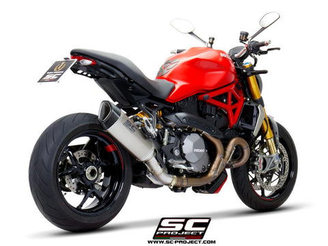 SC PROJECT DUCATI MONSTER 1200 (2017 - 2021) - S - R SC1-R Muffler, titanium, with carbon fiber end cap D25B-91T