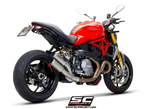 SC PROJECT DUCATI MONSTER 1200 (2017 - 2021) - S - R Twin CR-T double overlapping Muffler, titanium D25B-DT36T