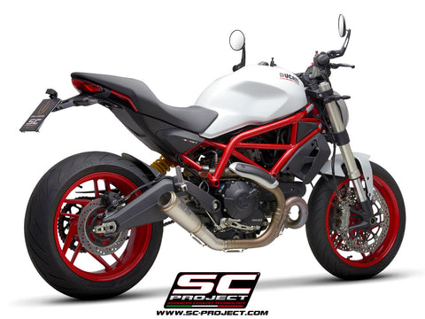 SC PROJECT DUCATI MONSTER 797 (2017 - 2020) S1-GP Muffler, titanium D32-T43T