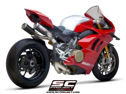 SC PROJECT DUCATI PANIGALE V4 S R WSBK FULL EXHAUST SYSTEM 4-2-1-2 WITH TITANIUM CU-NB PIPES / D26A-SBK-R