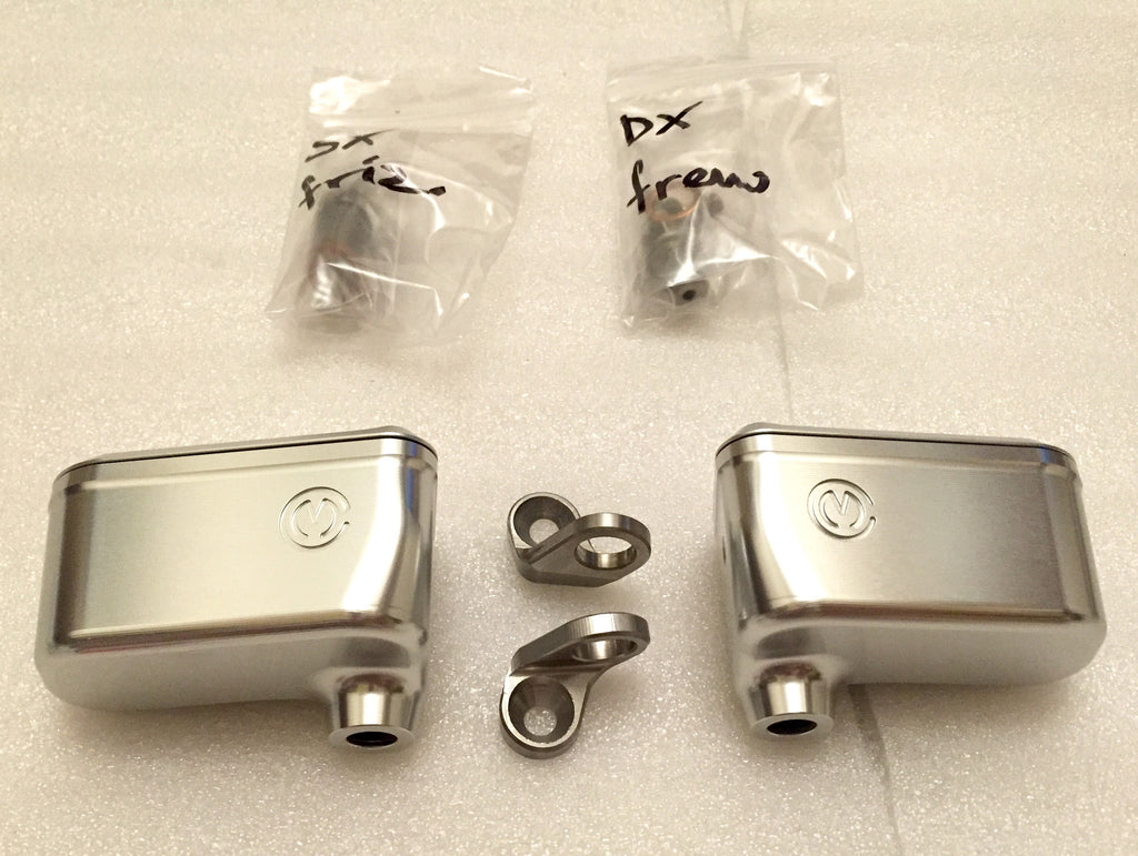 MOTO CORSE MACHINED FROM SOLID BRAKE AND CLUTCH OIL RESERVOIRS KIT - DennisPowerSport - 1