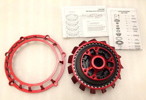 STM DUCATI EVOLUZIONE EVO-GP SLIPPER CLUTCH COMPLETE WITH 40T PLATES AND BASKET / FDU-S300 - DennisPowerSport - 1
