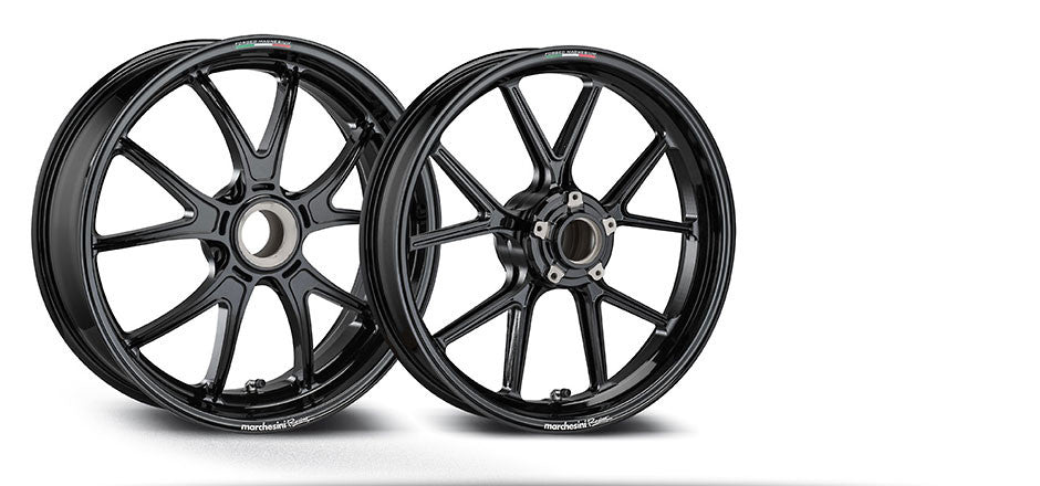 MARCHESINI FORGED ALUMINUM 10 SPOKE M10RS KOMPE WHEEL SET FOR DUCATI (FREE SHIPPING) - DennisPowerSport - 1