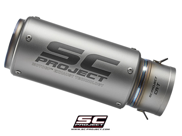 SC PROJECT CR-T MUFFLER WITH TITANIUM CNC MACHINED BUSHING