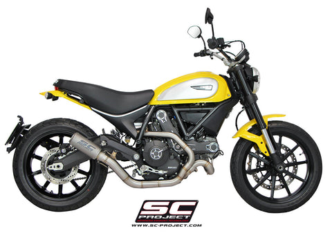 SC PROJECT DUCATI SCRAMBLER CR-T 2-1 FULL SYSTEM EXHAUST - LOW POSITION